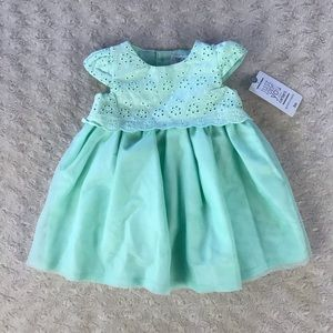 Just One You By Carter's Mint Green Eyelet Dress